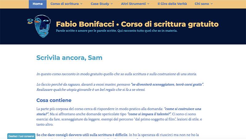 fabio bonifacci sito internet